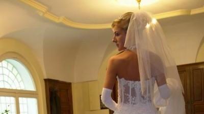 Sprzedam śliczną bardzo Seksowną suknię ślubną z salonu Mateji