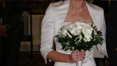 Sprzedam śliczną białą suknię ślubną