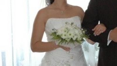 Sprzedam śliczną białą suknie ślubną