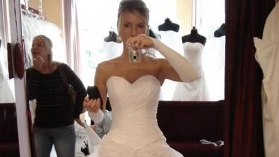 Sprzedam śliczną niepowtarzalną szytą na zamówienie suknię - Legnica