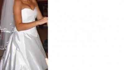 Sprzedam Śliczną Sukinię Ślubną Białą,stan idealny,gorset wiązany,