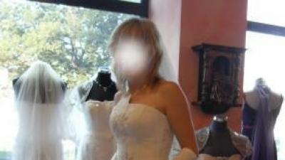 Sprzedam śliczną suknię ślubną ecru z dodatkami