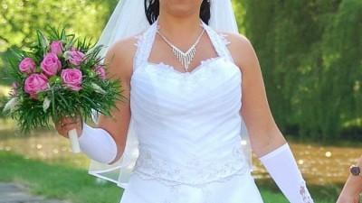 sprzedam śliczną suknię ślubną z czerwca 2008