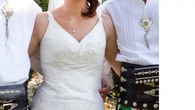 Sprzedam sukienkę ślubna - smietankowa biel -kraków