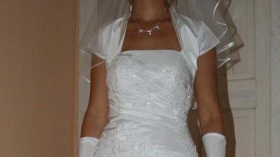 sprzedam suknie biala