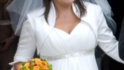Sprzedam suknie idealna na okrągłe kszałty lub ciąże w kolorze ecru