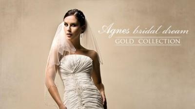 Sprzedam suknię ślubą Agnes Gold Colection 10212