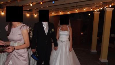 Sprzedam suknie ślubną + 2,5 m tren