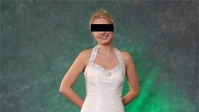 Sprzedam suknię ślubną (amerykański dekold) roz.38