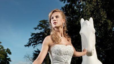 sprzedam suknię ślubną ANNAIS ecri suknia ślubna ERICA MARIE roz.38