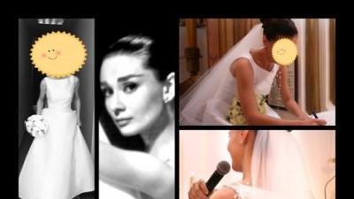 Sprzedam suknię ślubną CYMBELINE inspirowaną stylem Audrey Hepburn