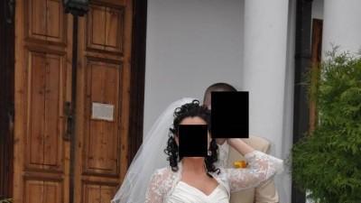 Sprzedam suknie ślubną ecru. Rozmiar 38/40 wzrost 170 plus obcas