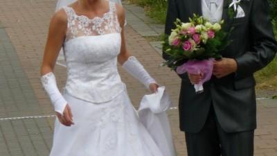 Sprzedam Suknie Ślubną firmy Sarah, gratis rękawiczki