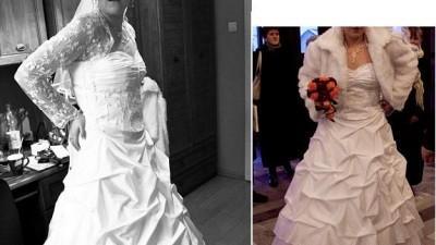Sprzedam Suknie Ślubną+Futerko+Koronkowe Bolerko