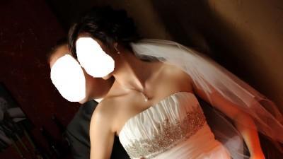 sprzedam suknię ślubna i kamizelkę z musznikiem