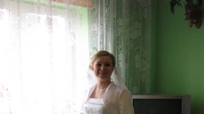 Sprzedam suknię ślubną jednoczęściowa z trenem podpinanym