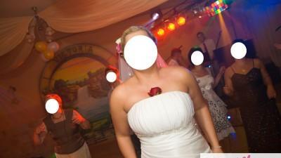 """Sprzedam suknię ślubną """"Oliwia"""" firmy MS Moda rozm.42-44 -biała."""