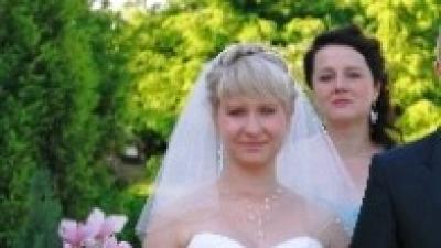 Sprzedam suknię ślubną perłowa 38  Madeline Gardner