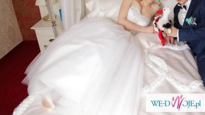 Sprzedam suknię ślubną rozmiar 34/36/małe38