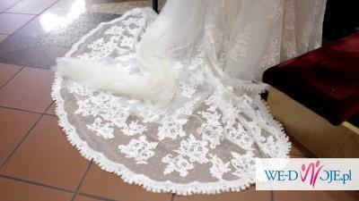 sprzedam suknię ślubną Silaba Manuel Mota Madonna 36/38 śmietanka
