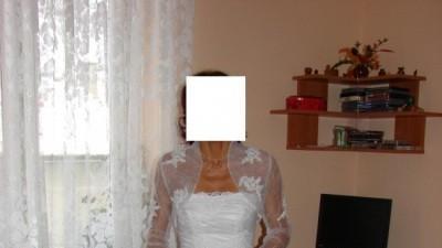 Sprzedam suknię ślubną wraz z bolerkiem i dodatkami