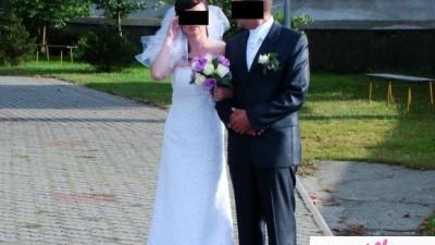 Sprzedam suknię ślubną z koronki, jednoczęściową