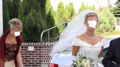 Sprzedam suknię ślubną z przepięknym długim trenem