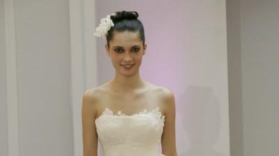 Sprzedam suknię ślubną  z trenem w kolorze ecru