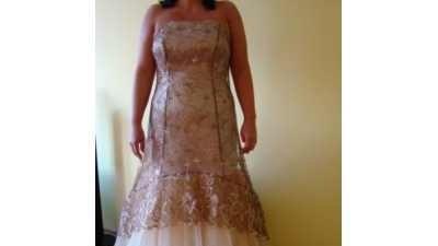 Sprzedam suknię wieczorową (u mnie była ślubna)