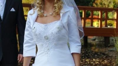 Sprzedam tanio białą suknię ślubną