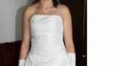 sprzedam używaną białą suknię ślubną