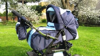 Sprzedam wózek dziecięcy wielofunkcyjny + nowy lezaczek