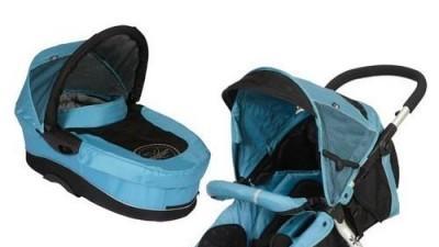 sprzedam wózek x lander xt niebieski spacerówka + gondola