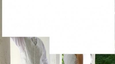 srebrna - białą  kamizelkę