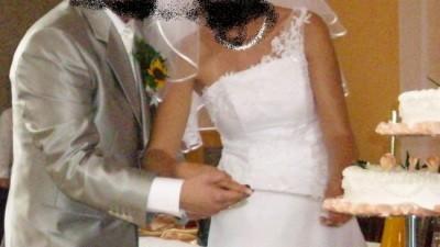 Srebrny garnitur ślubny