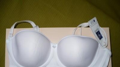 Stanik biały roz.70D do sukni bez ramiaczek i z ramiaczkami - nowy