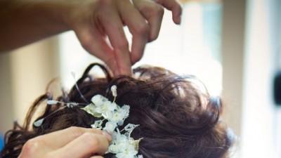 Stroik ślubny do włosów ecru