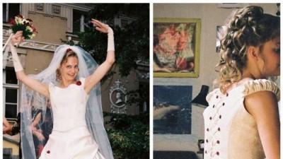 stylowa francuska suknia ecru