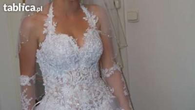 Stylowa, włoska suknia ślubna