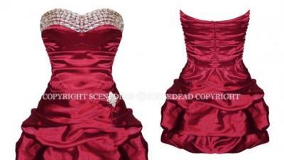 Sukienka bombka bordowa kamyczki rozmiar M