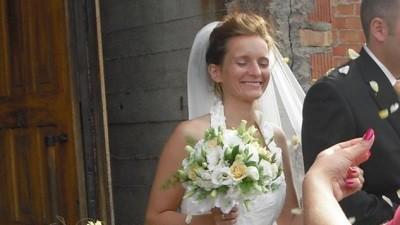 sukienka ecru, Elizabeth, 36-38 + welon +halka