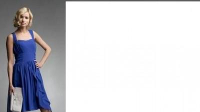 Sukienka kobaltowa DanHen