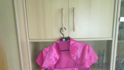Sukienka różowa satyna