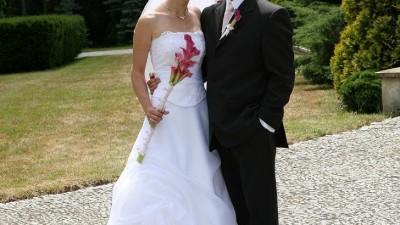 Sukienka ślubna 36/38 + dodatki