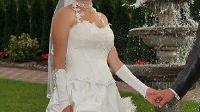 sukienka slubna ecru rozmiar 36 - 38