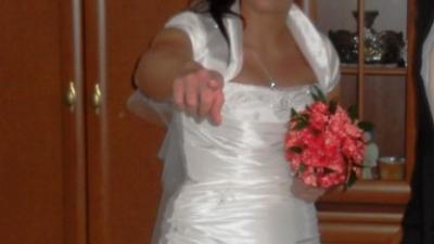 Sukienka ślubna jasny ecru