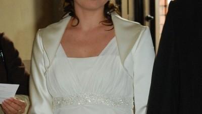 Suknia Agnes + bolerko + buty