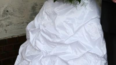 Suknia biała z tafty inteligentnej rozm 40-42