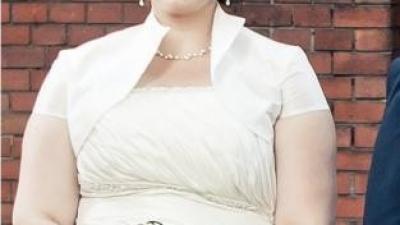 suknia ecru r.48 gratis