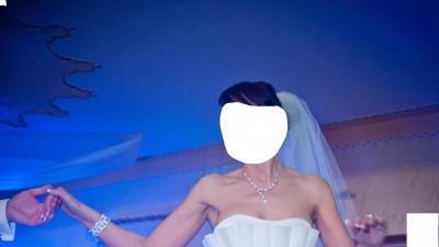 suknia EVITA (Pronuptia Francja) rozm.38 kolor ivory + dodatki (halka, biżuteria